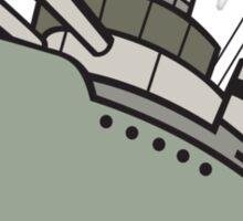 World War Two Battleship Cartoon Sticker