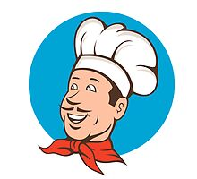 Chef Cook Baker Smiling Cartoon by patrimonio