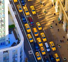 NYC Taxi Cabs by Ryan McEwan