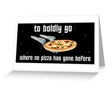 USS Pizzaprise Greeting Card