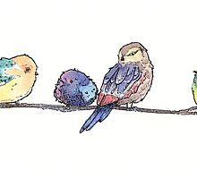 Colorful Birds by PaolaCocchetto
