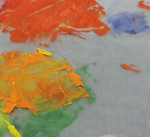 Paint Splat on Wax Paper by graetkel