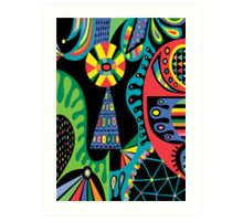 Mojo black Art Print