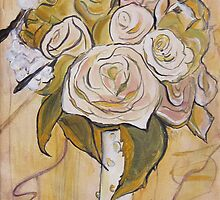 Wedding Bouquet Card by Carrie Jackson