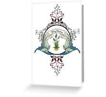 Circle Tree White Christmas Card Greeting Card