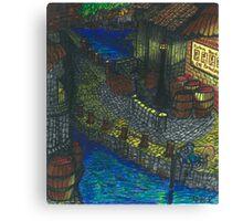 Pirate Cove (panel 1) Canvas Print