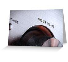 Master Volume Greeting Card