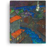 Pirate Cove (panel 4) Canvas Print