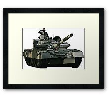 Tank and Soldiers Framed Print