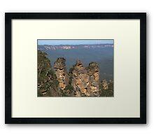 Three Sisters, Katoomba, Australia Framed Print