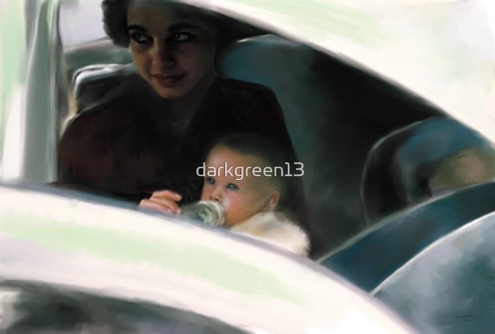 Mary David mother feeding baby  by darkgreen13