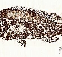 Tautog on Rice Paper by IslandFishPrint