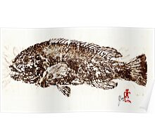 Tautog on Rice Paper Poster