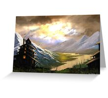 Mountain vista Greeting Card