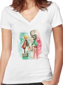 Little Asgard Women's Fitted V-Neck T-Shirt