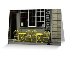 Yellow Chairs ,Cafe Hobart Greeting Card