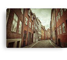 Cobbled Street in Copenhagen Canvas Print