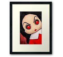 Evil Rag Doll Framed Print