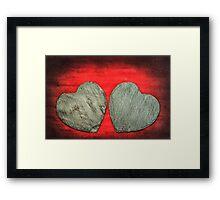 Stone Hearts Framed Print