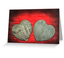 Stone Hearts Greeting Card