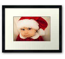 Grumpy Baby Santa Claus Framed Print