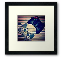 Console Yourself - PS2 & Xbox 360 Controllers Framed Print