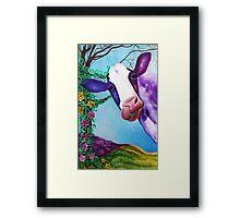 Moo (Cow, Farm Animal Art) Framed Print