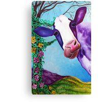 Moo (Cow, Farm Animal Art) Canvas Print