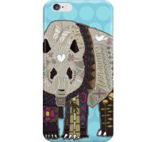 chocolate panda blue iPhone Case/Skin