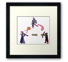 combat triangle Framed Print