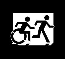 Accessible Means of Egress Icon and Running Man Emergency Exit Sign, Right Hand by Egress Group Pty Ltd