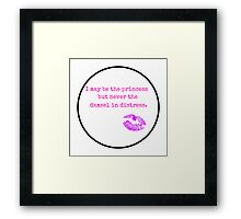 Never the Damsel Framed Print