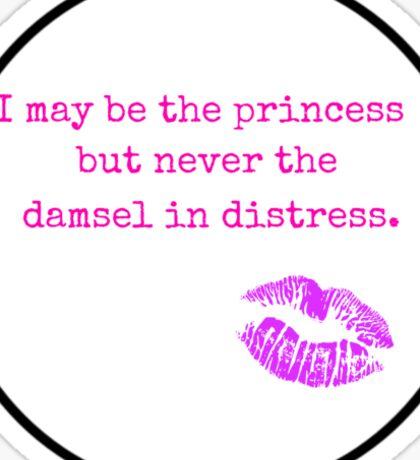 Never the Damsel Sticker