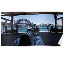 A glimpse of the harbour Bridge Poster