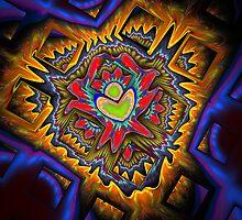 Aztec Fractal by Virginia N. Fred