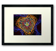 Aztec Fractal Framed Print