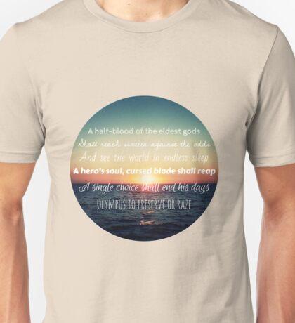 Percy Jackson Prophecy Sunset Unisex T-Shirt