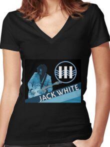 Jack White Women's Fitted V-Neck T-Shirt