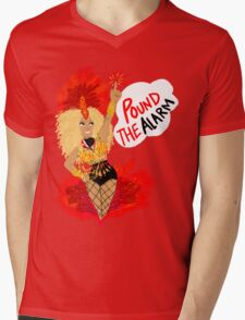 Pound the ALARM! Mens V-Neck T-Shirt