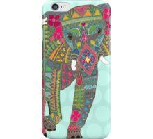 painted elephant aqua iPhone Case/Skin