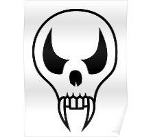 Cartoon Vampire Skull Poster