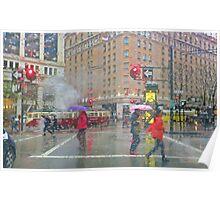 Market Street Morning Rain Poster