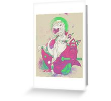 SPACE T REX Greeting Card