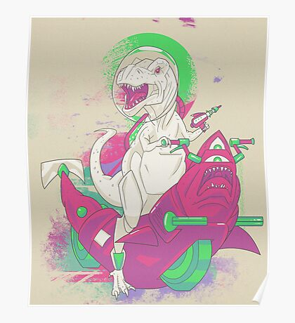 SPACE T REX Poster