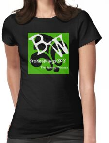 BrokenWings303 Logo - Guy Version Womens Fitted T-Shirt