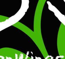 BrokenWings303 Logo - Guy Version Sticker