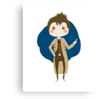 10th Doctor chibi Canvas Print