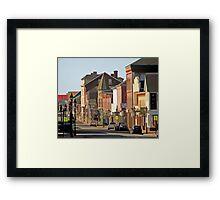 Yarmouth Main Street in the Sunshine Framed Print