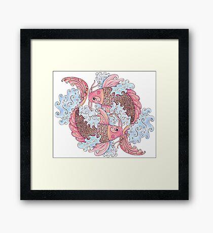 Koi Pair Framed Print