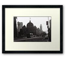 Flinders St Sunset Framed Print